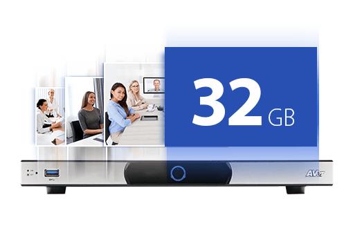 內建 32G 影片儲存空間